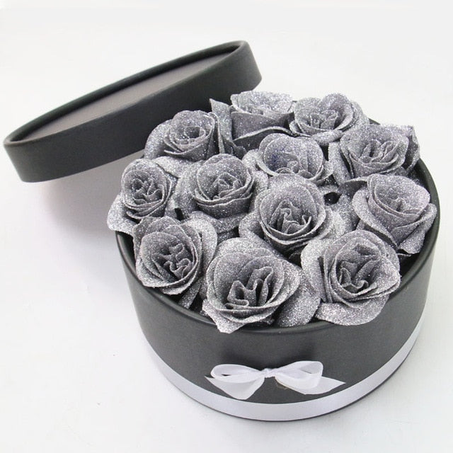 big gray roses for valentine