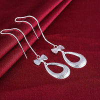 Tear Threader Drop Earring in 18K White Gold Plated