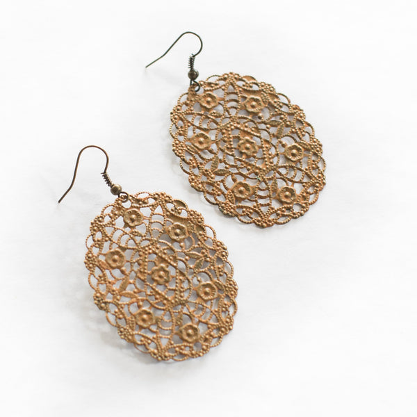 Secret Garden Filigree Earrings