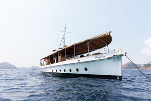 Private charter on a 1930s steam launch around Sai Kung's islands
