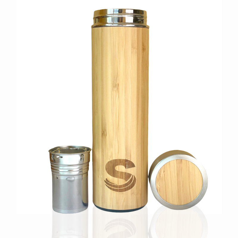 500 ml bamboo insulated bottle