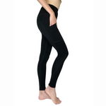 Load image into Gallery viewer, Bamboo High Waisted Black Leggings