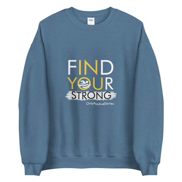 Find Your Strong Unisex Swim Crewneck Sweatshirt