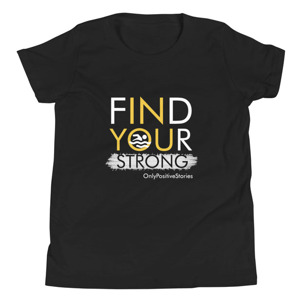 Find Your Strong Swimming Youth Short Sleeve T-Shirt