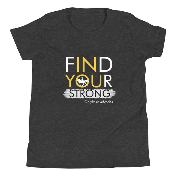 Find Your Strong Horseback Riding Youth Short Sleeve T-Shirt