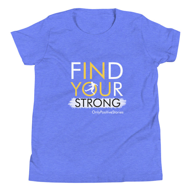 Find Your Strong Soccer Youth Short Sleeve T-Shirt