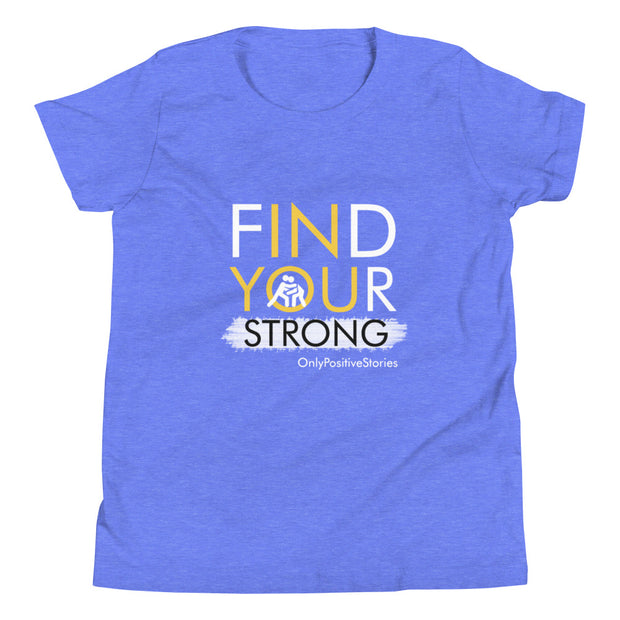 Find Your Strong Wrestling Youth Short Sleeve T-Shirt