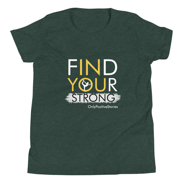 Find Your Strong Gymnastics Youth Short Sleeve T-Shirt