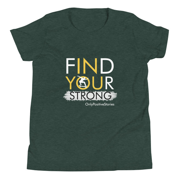Find Your Strong Skateboarding Youth Short Sleeve T-Shirt