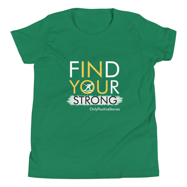 Find Your Strong Skiing Youth Short Sleeve T-Shirt