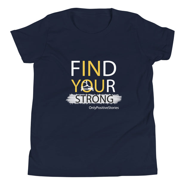 Find Your Strong Pilates Youth Short Sleeve T-Shirt