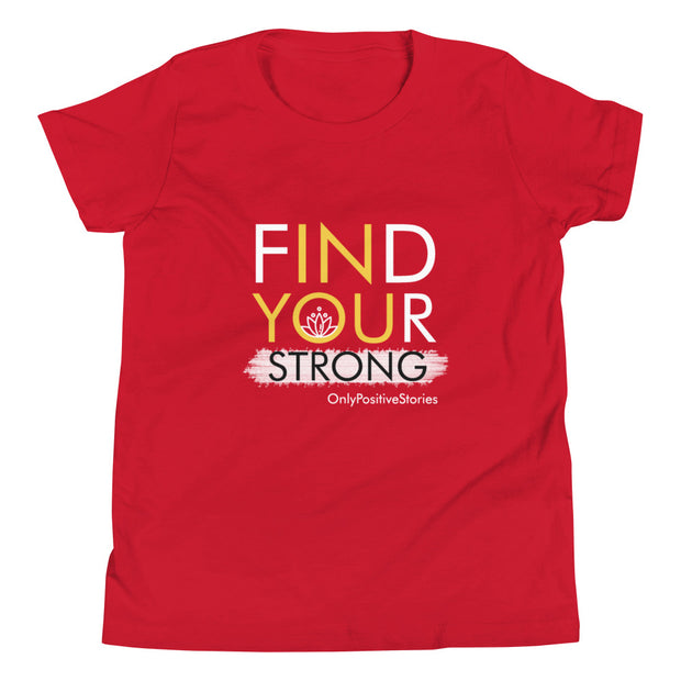 Find Your Strong Meditation Youth Short Sleeve T-Shirt