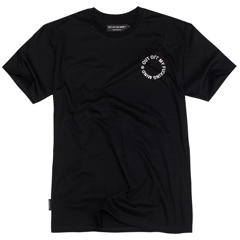 CIRCLE T-SHIRT BLACK - outoffmymind