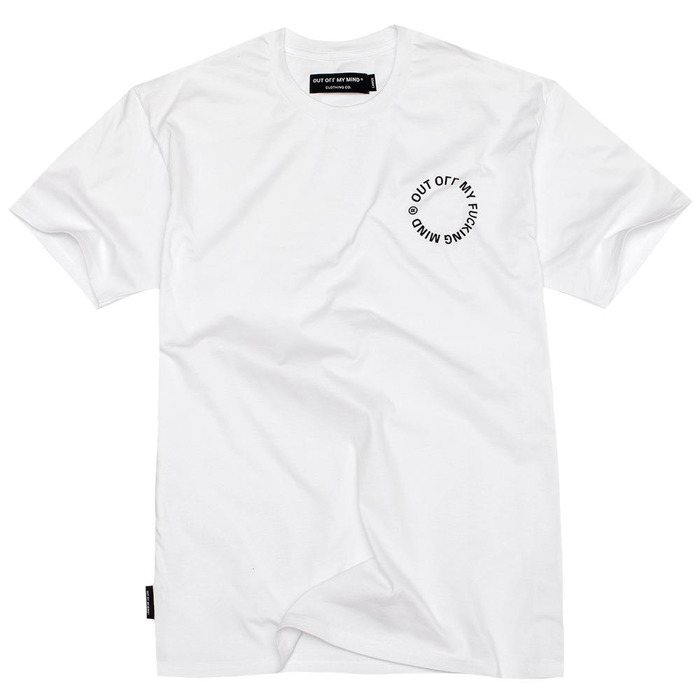 CIRCLE T-SHIRT WHITE - outoffmymind