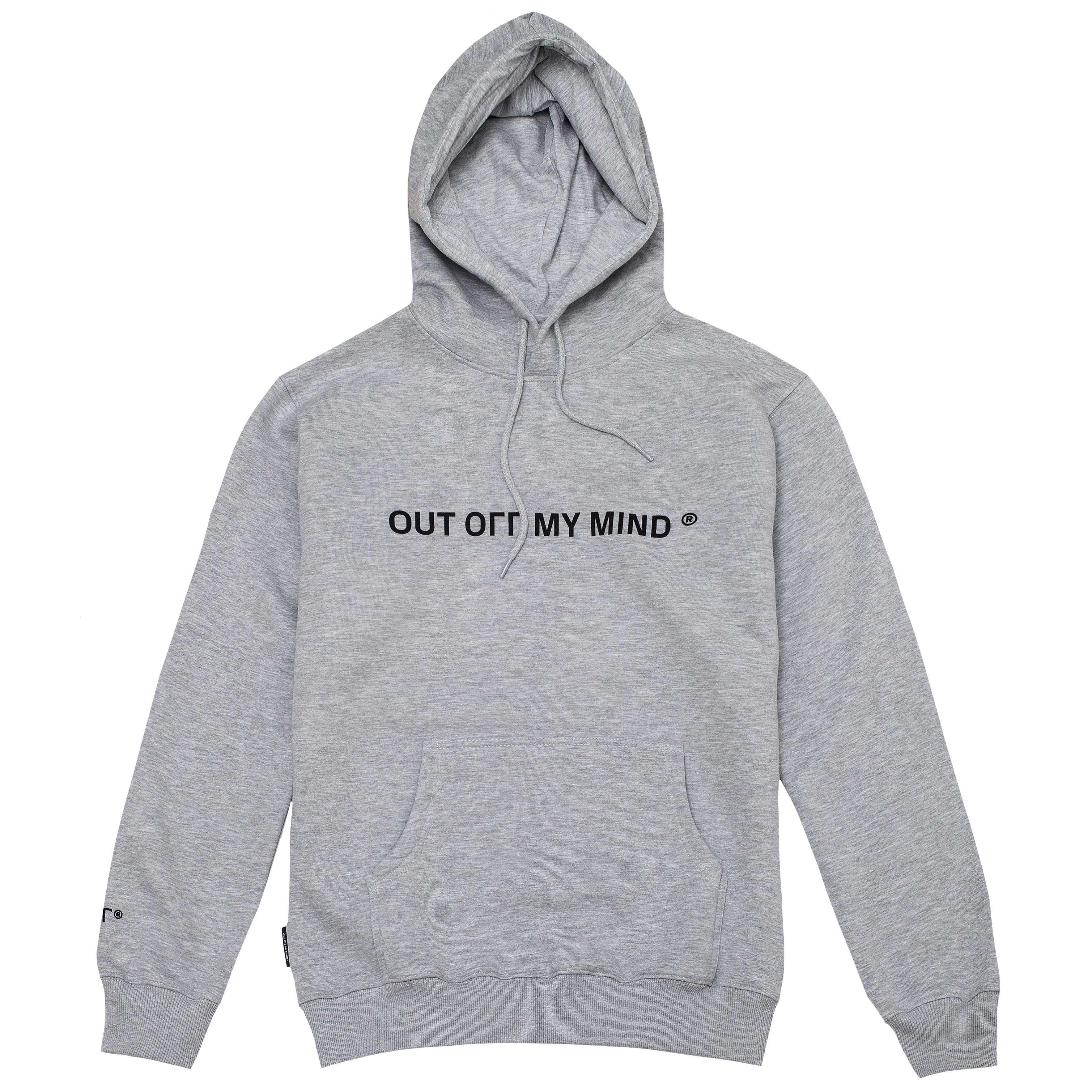 FLAG HOODIE GREY - outoffmymind