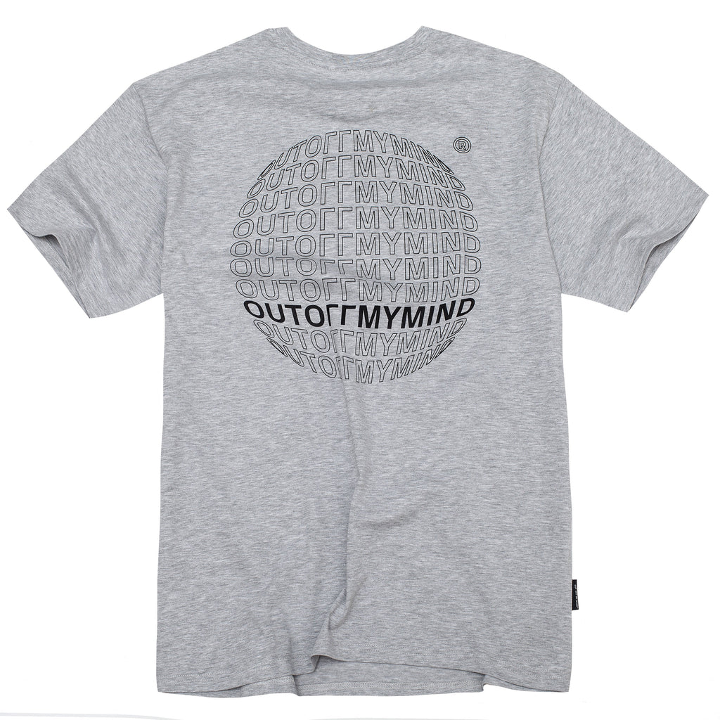 GLOBE TEE GREY - outoffmymind
