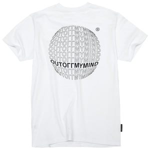 GLOBE TEE WHITE - outoffmymind