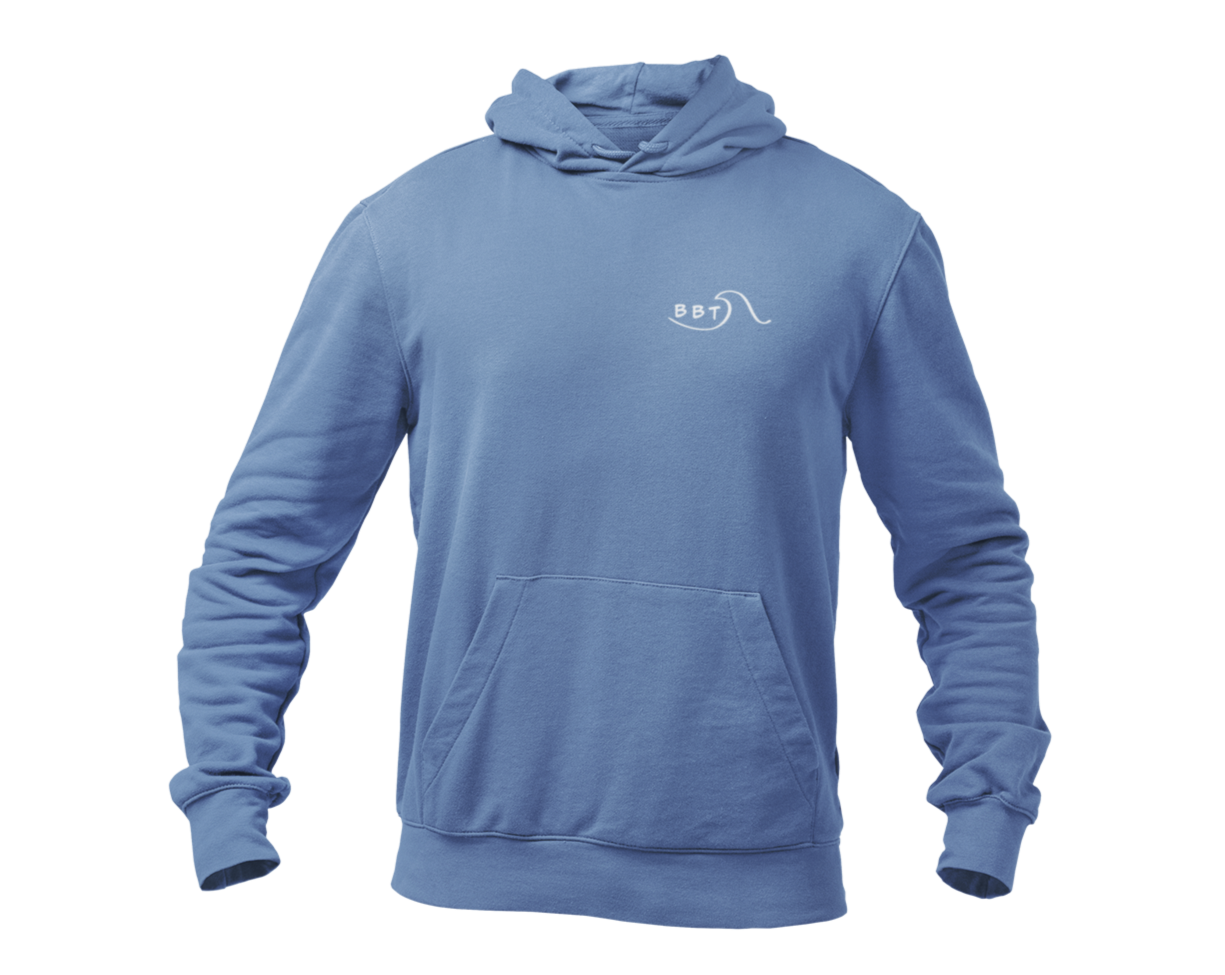 Ride The Wave Hoodie ~ Denim Blue