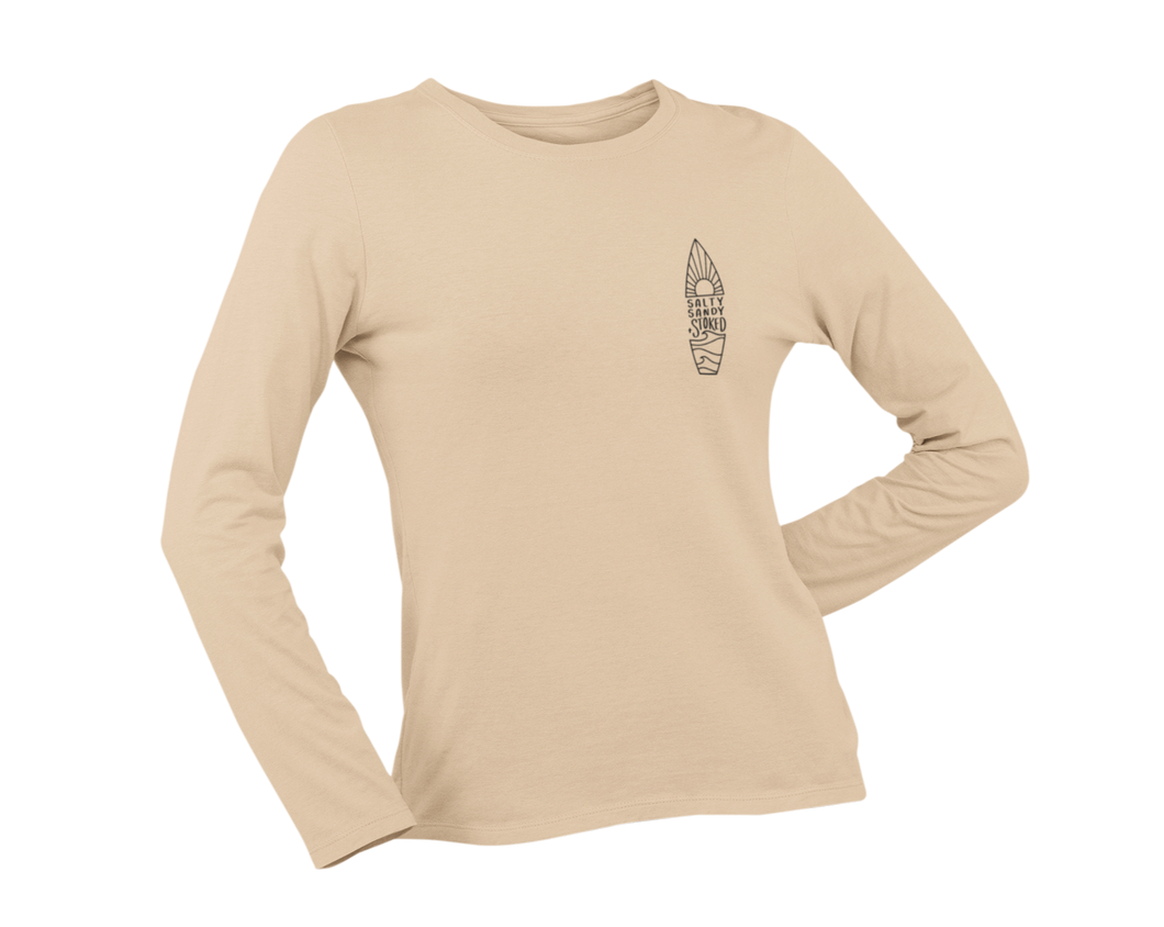 Salty Sandy & Stoked Long Sleeve - Sand