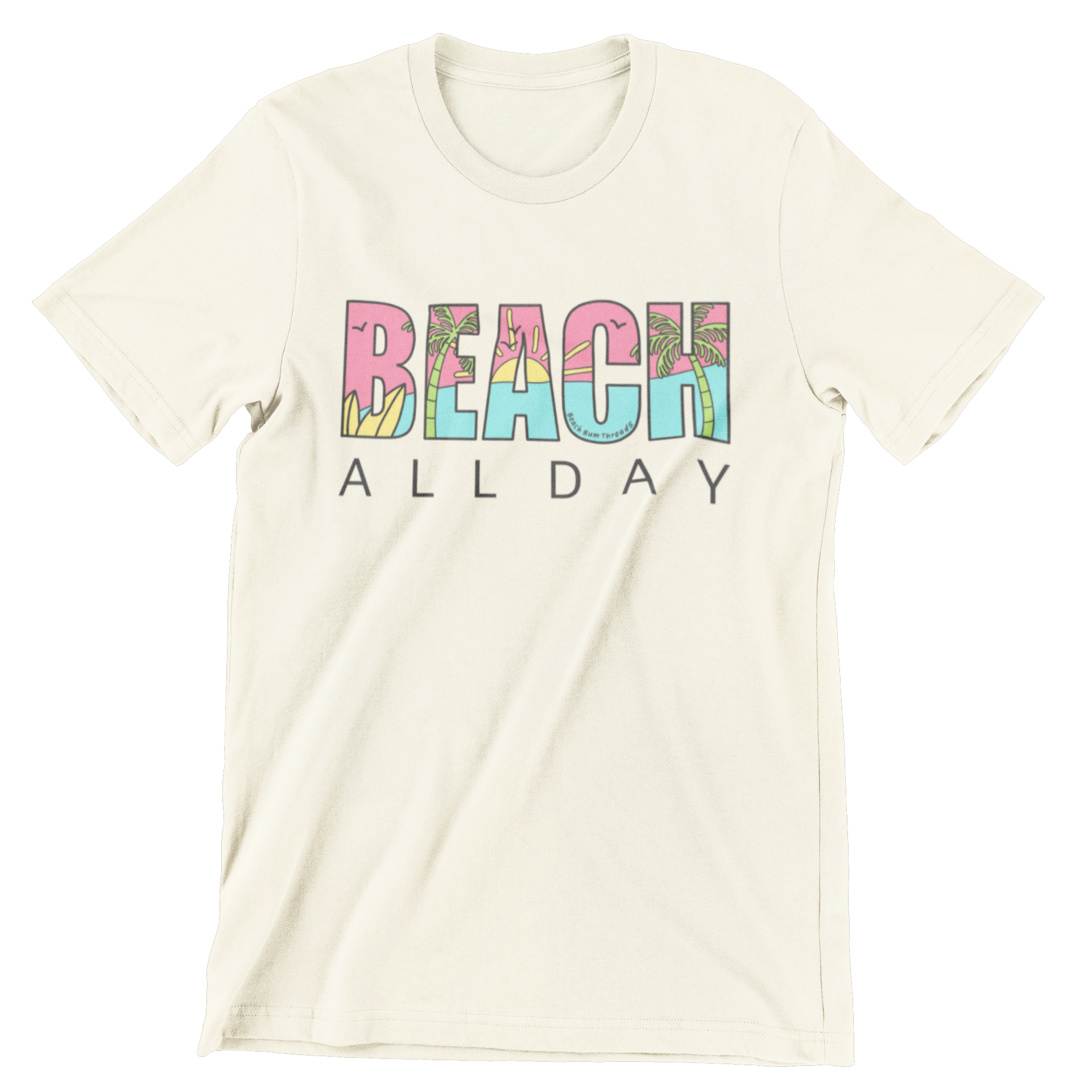 Beach All Day Tee ~ Sand