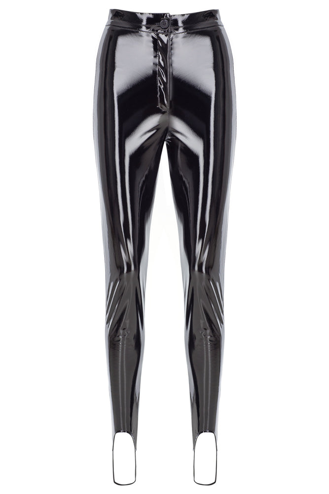 Slim Stirrup Vinyl Pants