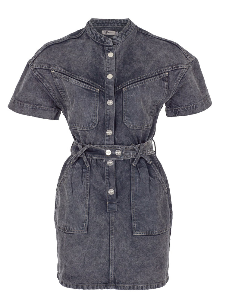 Load image into Gallery viewer, Short Sleeve Denim Dress