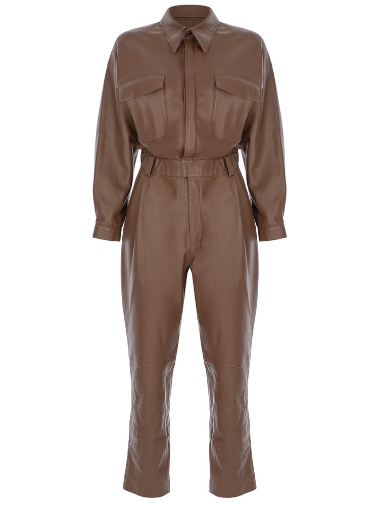 Load image into Gallery viewer, Leather Jumpsuit