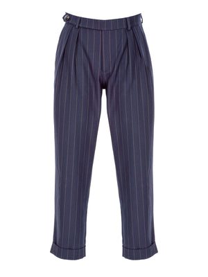 Load image into Gallery viewer, Striped Wool Pants