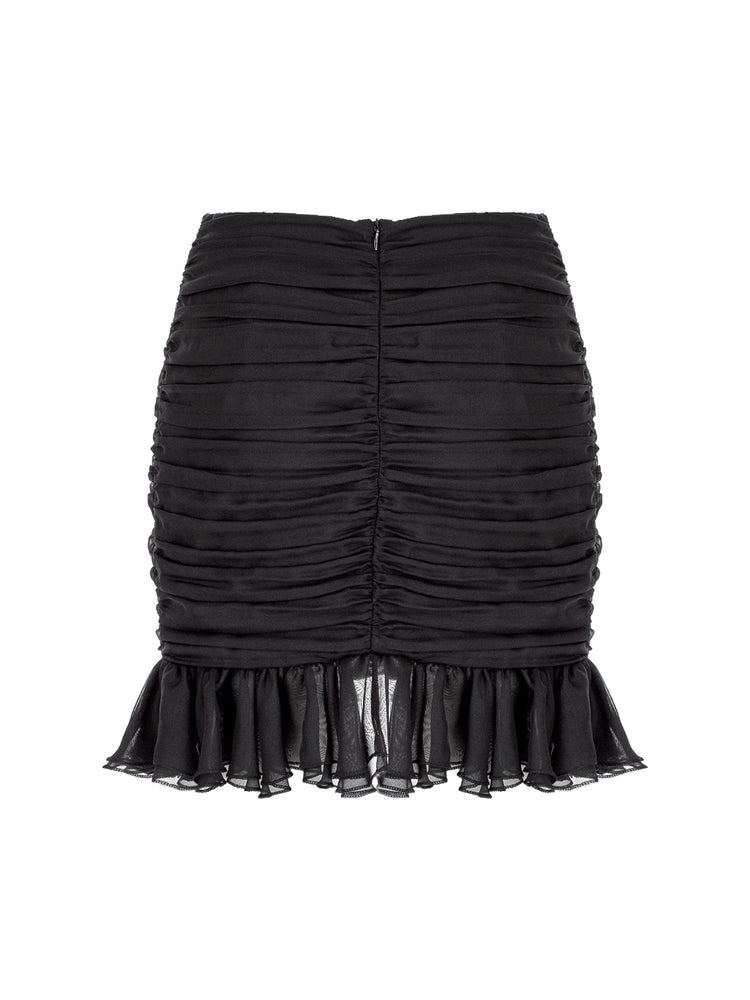 Load image into Gallery viewer, Draped Ruffled Mini Skirt