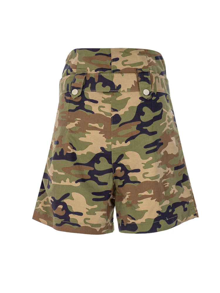 Load image into Gallery viewer, High Waist Military Shorts