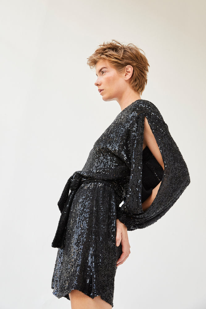 Load image into Gallery viewer, Sequined Dear Dress