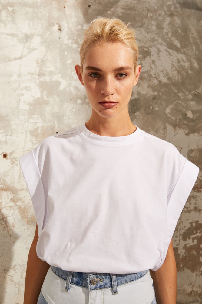 Load image into Gallery viewer, Roll Up Sleeve T-Shirt