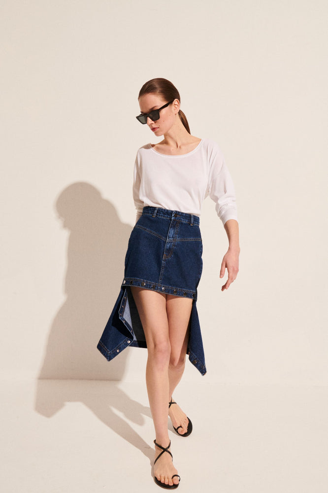 Load image into Gallery viewer, Pia Denim Skirt
