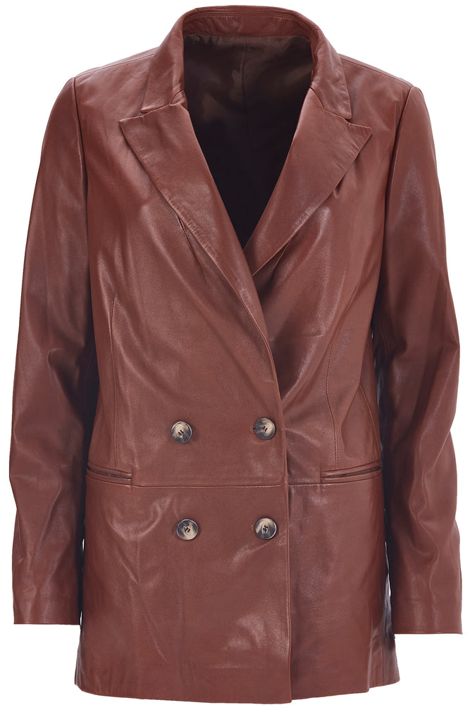 Load image into Gallery viewer, Wrap-Over Leather Jacket