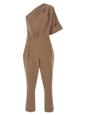 Load image into Gallery viewer, One Shoulder Wool Jumpsuit