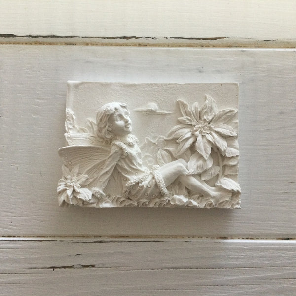 Hand cast in Hydrostone gypsum cement, these fairy plaques are ready-to-paint