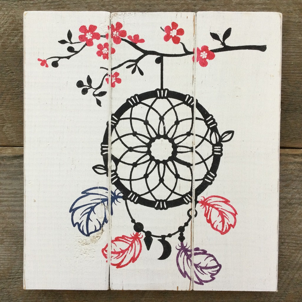 Dreamcatcher Cherry Tree Rustic Sign Art Kit