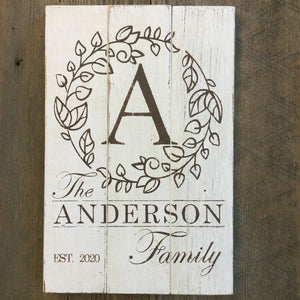 PERSONALIZED Family Monogram Rustic Sign Kit Sign Board