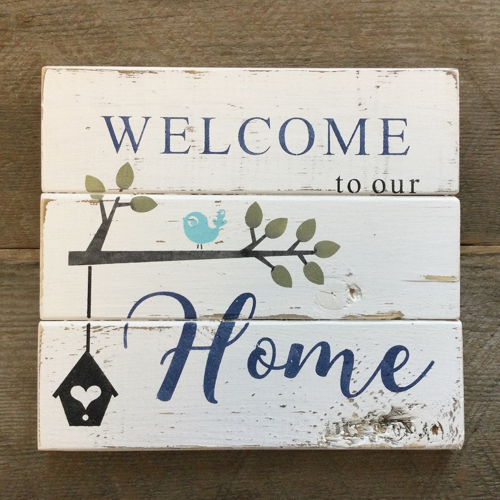 Welcome to our Home Rustic Sign Art Kit. Everything you need in one box. Custom colors and completed signs available too.