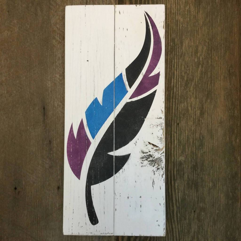 Feather Rustic Sign Kit Sign Board