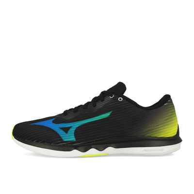 Mizuno Wave Shadow 4 Black Dark Blue Safety Yellow-Runster