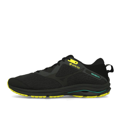 Mizuno Wave Rider GTX 2 Dark Shadow Black Yellow-Runster