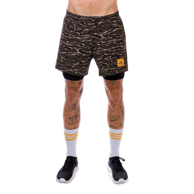 Saysky 2 in 1 Shorts Forest Tiger Camo-Runster