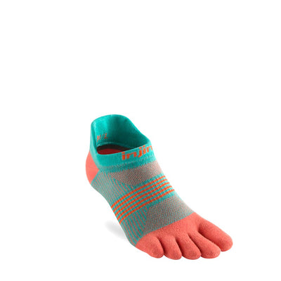 Injinji Womens Run Lightweight No-Show Socks Guava-Runster