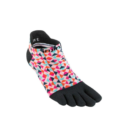 Injinji Womens Run Lightweight No-Show Socks Retro-Runster