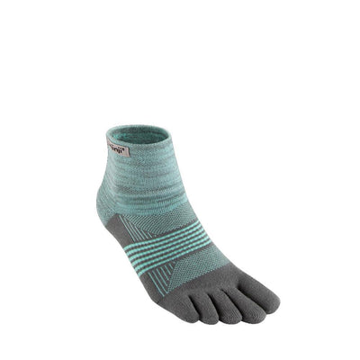 Injinji Womens Trail Midweight Mini Crew Socks Mint-Runster
