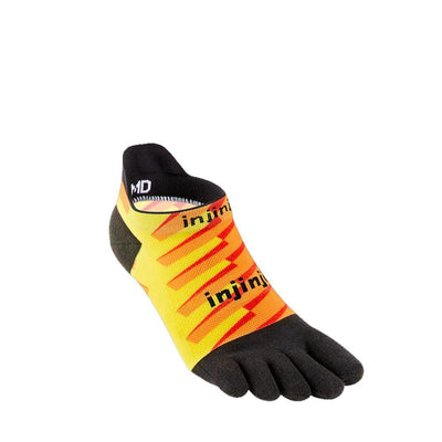 Injinji Spectrum Run Lightweight No-Show Socks Lightning-Runster