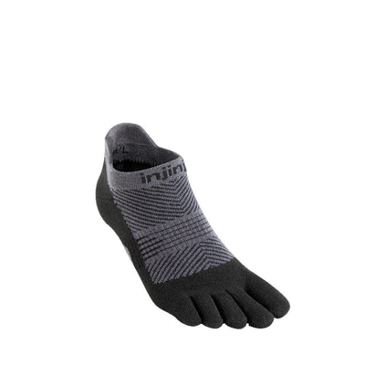 Injinji Womens Run Lightweight No-Show Socks Black-Runster