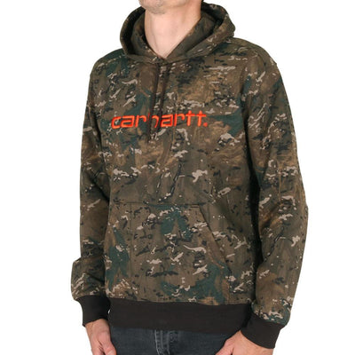 Carhartt WIP Hooded Carhartt Sweat Camo Combi Safty Orange-Runster