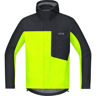 Gore Wear C3 GTX Paclite Hooded Jacket Neon Yellow Black-Runster